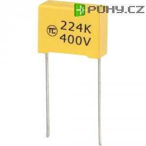 Foliový kondenzátor MKS, 0,22 µF, 400 V, 5 %, 18 x 7,5 x 13,5 mm