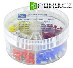 Kabelové dutinky - v balení modrá, červená, žlutá, bílá, celkem 400 ks