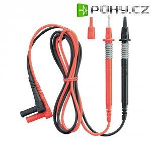 Měřicí kabel banánek 4 mm ⇔ měřící hrot 2 mm Benning, 1 m, černá/červená