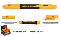 Šroubovák 4v1 křížový PH0+PH1, plochý 3mm+4mm