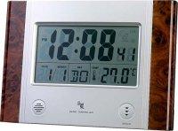 Nástěnné hodiny DCF s teploměrem
