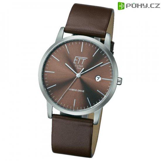 6ab0d3a5b Ručičkové náramkové hodinky Hybrid Quartz, pánské, kožený pásek ...