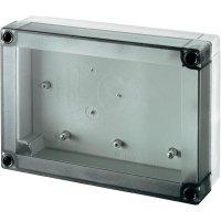 Polykarbonátové pouzdro MNX Fibox, (d x š x v) 180 x 130 x 50 mm, šedá (MNX PC 150/50 LT)