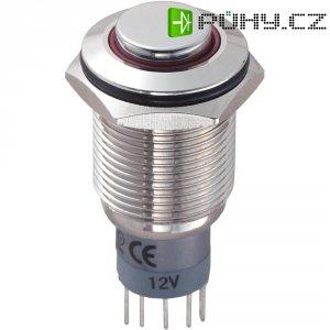 Tlačítkový spínač antivandal TRU Components LAS2GQH-11ZE/R/12V/N/P, 250 V/AC, 3 A, 1 ks