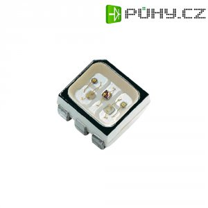 SMD LED Dominant Semiconductors, D6RTB-HJD-TU+UV+ST-1, 20 mA, 2,1 V, 130 °, 637 mcd, RGB