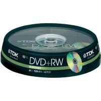TDK DVD+RW 4,7GB 4X 10 ks cake box