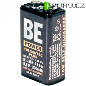 Akumulátor BE-Power Pulsartec Plus 9 V, NiMH, 200 mAh