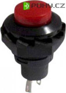 Tlačítko SCI, R13-502B-05RT, 250 V/AC, 1,5 A, zap./(vyp.), červená
