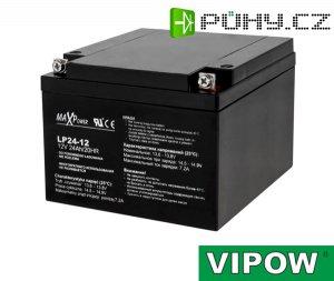 Baterie olověná 12V/24Ah VIPOW bezúdržbový akumulátor