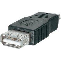 USB adaptér zásuvka USB Typ A  zástrčka mini USB Typ B BKL Electronic 10120275, černý