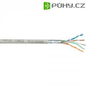 Síťový kabel CAT 6, 4x2x0.25 mm², šedý, 100 m