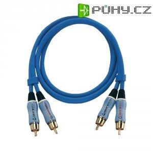 Připojovací kabel Oehlbach, cinch zástr./cinch zástr., modrý, 0,5 m
