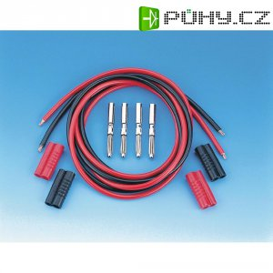 Sada měřicích kabelů banánek 4 mm ⇔ banánek 4 mm Voltcraft, 1 m, černá/červená
