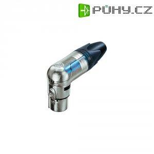 XLR kabelová zásuvka Neutrik NC5FRX, úhlová, 5pól., 3,5 - 8 mm , stříbrná