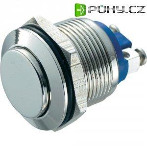 Tlačítko antivandal bez aretace TRU COMPONENTS GQ 19H-N, 48 V/DC, 2 A, mosaz, 1x vyp/(zap)