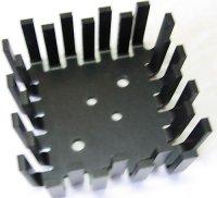 Chladič TO3 vějíř, 55x55x25mm elox. Al