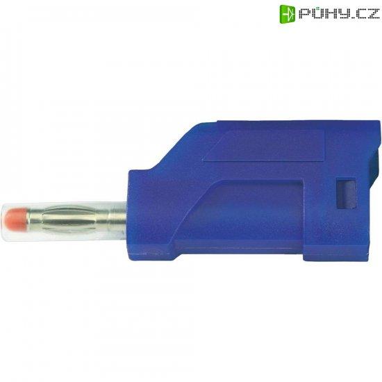 Lamelový konektor Ø 4 mm SCI Sicherheitsstecker; (28430c661), zástrčka rovná, modrá - Kliknutím na obrázek zavřete
