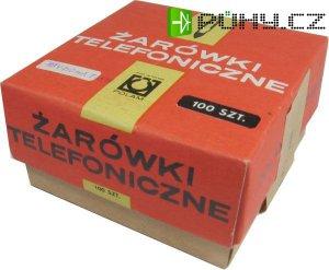 žárovka telefonní 60V/20mA T5,5 POLAM, balení 100ks