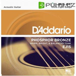 Kovové struny na akustickou kytaru D´Addario EJ15, 010 - 047