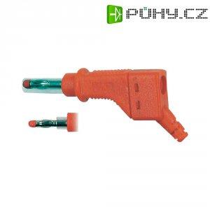 Lamelový konektor Ø 4 mm MultiContact 66.9328-22, zástrčka rovná, červená