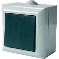 Vypínač GAO Business-Line AP, 9166, dvojitý, šedá