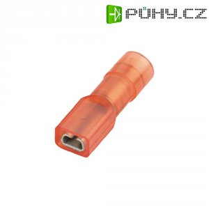 Faston zásuvka Vogt Verbindungstechnik 396008S 2.8 mm x 0.8 mm, 180 °, úplná izolace, červená, 1 ks