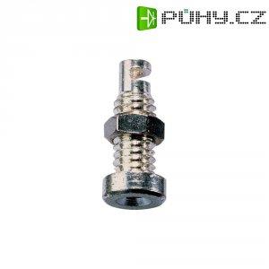 Bezpečnostní konektor Schnepp BU 2100, zásuvka vestavná vertikální, Ø 2 mm, stříbrná