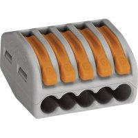 Svorka Wago, 51196508, 0,08 - 2,5/4 mm², 5pólová, šedá/oranžová, 10 kusů
