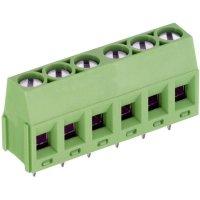 Pájecí šroub. svorka 5nás. PTR AKZ350/5-5.08-V (50350050001F), 380 V/AC, 5,08 mm, zelená