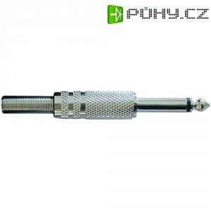 Kabelový konektor jack (M) 6,3 mm, stříbrná