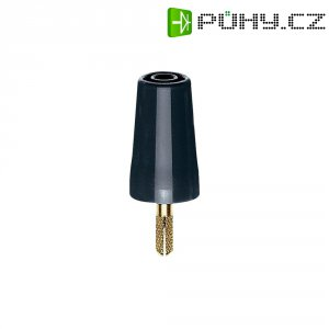 Adaptér 4/4 mm MultiContact 24.0160-21, TPE, rovný, černá