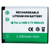 Li-Ion akumulátor pro Olympus LI-40B a Nikon EN-EL 10, 251155, 3,7 V, 500 mAh, černá