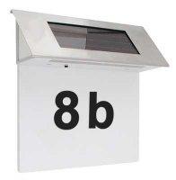 Solární svítidlo nastěnné pro osvětlení domovního čísla