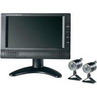 """Sada 2 bezdrátových kamer a 4-kanálového TFT monitoru 7\"""" 8103AE2, 480 x 234 TVL"""