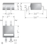 Křemíkový můstkový usměrňovač Diotec MYS80, U(RRM) 160 V, 500 mA, MicroDIL