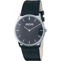 Ručičkové náramkové hodinky Eurochron 32 Quartz, kožený pásek, černá/stříbrná