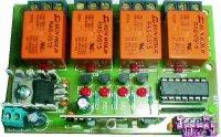 Dálkové ovládání-přijímač 4kanál STAVEBNICE 433MHz