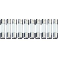 Jemná pojistka ESKA 520107, skleněná trubice, 250 V, 0,1 A, 5 mm x 20 mm, 10 ks