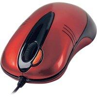 Optická myš Dual Focus, červená A4-TECH