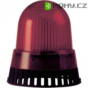 Bzučák s bleskem Werma 421.110.75, 101 x 89 mm, 24 V DC/AC, IP65, červená