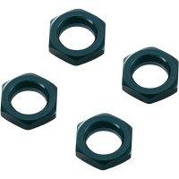 Matice kola Reely SEM106BA, 1:8, 17 mm, černý hliník, 4 ks