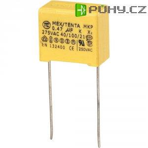 Foliový kondenzátor MKP, 0,47 µF, X2 275 V/AC, 10 %, 19 x 11 x 18 mm