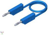 Měřicí silikonový kabel SKS Hirschmann, 1 mm², délka 2 m, modrá