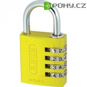 Visací zámek s číselnou kombinací Abus 145/40, žlutá
