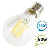Žárovka LED A60 E27 8W retro bílá teplá