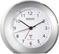 Analogový DCF budík Eurochron EFW 5000, 120 x 110 x 54 mm, stříbrná