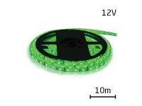 LED pásek 12V 3528 60LED/m IP65 max. 4.8W/m zelená (cívka 10m) zalitý
