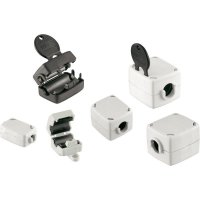 Dělené feritové jádro Würth Elektronik pro kabely Ø 10,5 až 12,5 mm, 74271222