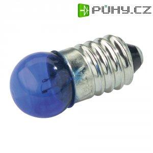 Kulatá žárovka Barthelme, 3,5 V, 0,7 W, 200 mA, E10, modrá