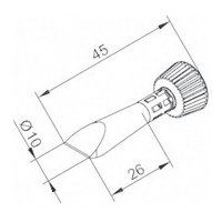 Pájecí hrot ERSADUR 0102CDLF100C/SB, 10 mm